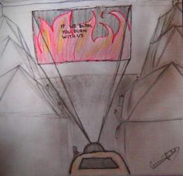 Hunger games- If we burn, you burn with us by csooomle