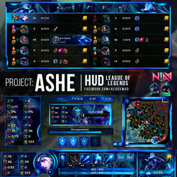 PROJECT: Ashe HUD - League of Legends by AliceeMad