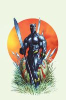Black Panther cover 2 by LiamSharp