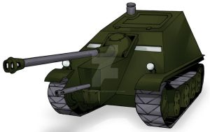 ZT-5J Shadow Panther Tank Destroyer by MedronPryde