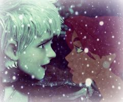 Jack Frost and Anastasia (Once upon a December) by ANRomanova