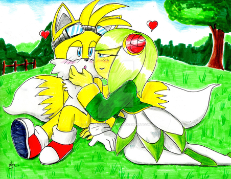 Tails And Cosmo by EROS-ARISTOTELES-ART