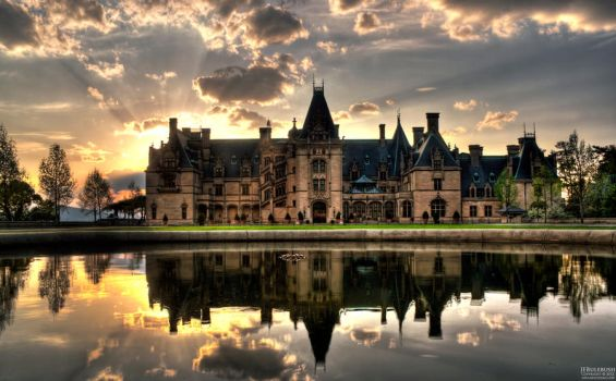Biltmore House at Sunset - Asheville, NC by Bulephotography