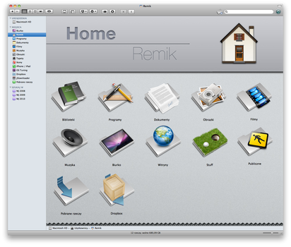 Finder Home Folder BG by iRemik