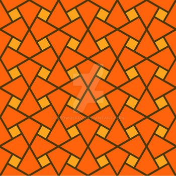 Geometric Pattern: Square Twist: Orange by redwolfoz