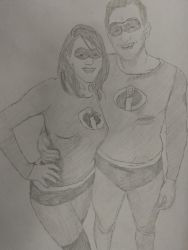 Newlywed Incredibles by LittleGrayLines
