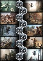 Assassins Creed Poster All games by GingerJMEZ