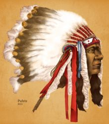 Crow Native American by Pulvis