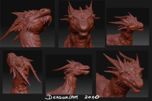 Zbrush dragon - WIP by Eva-the-DragonLady