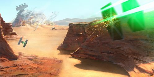 Tie Fighter Canyon by WeaponMassCreation