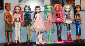 8 monster high ooaks by rainbow1977
