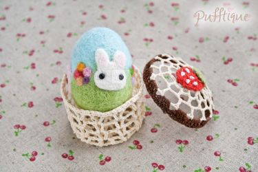 Needle Felted Easter Egg by li-sa