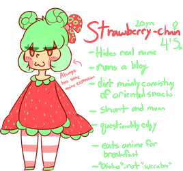 [NEW SONA] Strawberry-chan ref by royalraptors