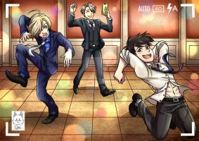 Yuri On Ice Dancing At The Banquet by AimiisLoveBeautiful