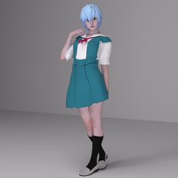 Ayanami Rei Test Render by Shinteo