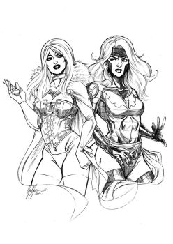 Jean Grey And Emma Frost by o0DIABLO0o