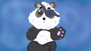 Fluffy Panda  by Jadedapril