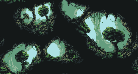 Jungle Cave Background by Pukahuna