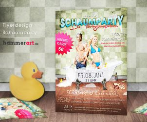 Schaumparty - Flyerdesign by razr-designs