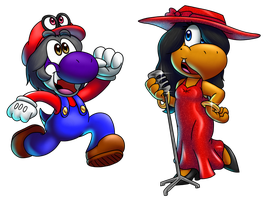 One-Up Boy and One-Up Girl by ErnestoGP