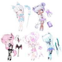 Revealed aesthetic adopts by kawaii-antagonist