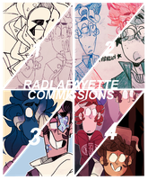COMMISSION INFO OPEN -- PAYPAL by radlafayette