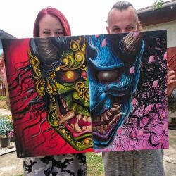 collaboration painting by AtomiccircuS