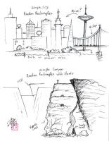 Draw Simple Cities and Canyon by Diana-Huang