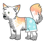 Timoothy the doge with pants by Woods-Of-Lynn