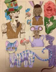 Alice: Colorful Cast by tearstainedplaguerat