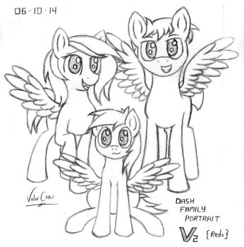 2014-06-10-Dash Family Portrait, Redo by Valorcrow