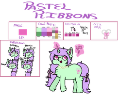 Pastel Ribbons Reference Sheet by weaseIbee