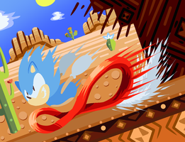 Sonic in Mirage Saloon Past by nekomaster1000