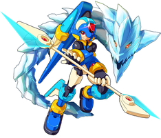The Ice Mega Man by ultimatemaverickx
