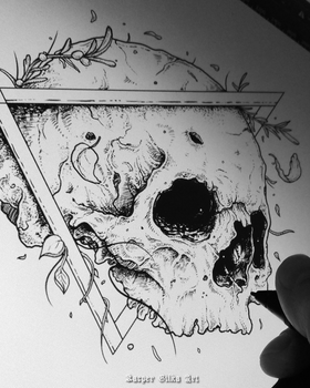 Skull wip by KGArtDesign