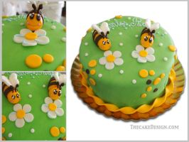 Bee cake by akr1