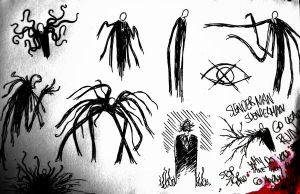 Slender Man Sketches by Cryptdidical