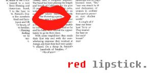 red lipstick by dabas