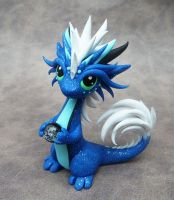 Blue Oriental Dragon by DragonsAndBeasties