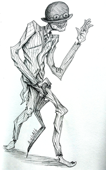 Inktober #8 - Crooked (The Crooked Man Conjuring2) by AiwiloNik