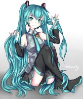 Hatsune Miku by Fox-Candy