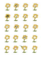 Flowey Expression Chart by lobisco1
