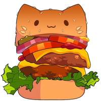 Cat Burger by Rosemoji