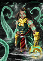 Illaoi the kraken priestess by rebenke
