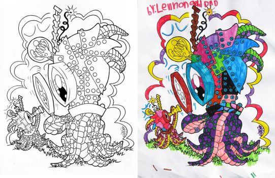 COLORING BOOK SAMPLE 1 by MYTH22