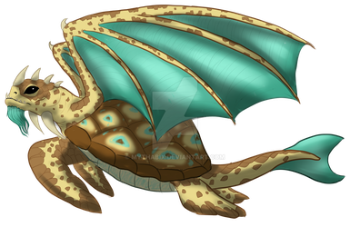 Dragon Of The Sea. Adopt. OPEN: REDUCED! by MythaBix