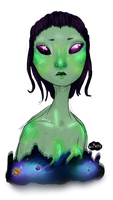 Alien Girl by All-The-Fish-Here