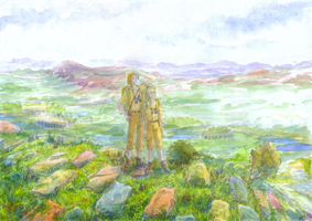 On the Back of Sky Giant (Marble Garden) by Liris-san
