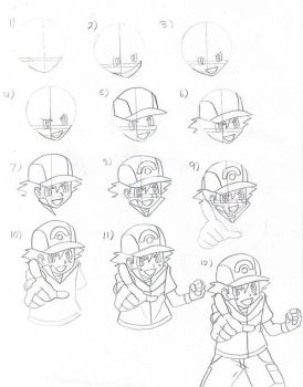 How to draw pokemon anime characters favourites by looneytunerian crystalclair 61 10 how to draw ash ketchum part 1 by eternash thecheapjerseys Gallery