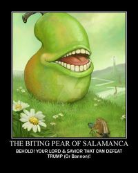The Biting Pear of Salamanca Poster by BLADEDGE